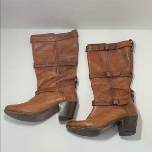Women's Frye boots buckle strap size 9